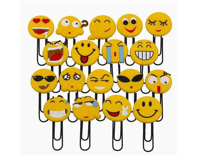 Marcapáginas de emoticonos