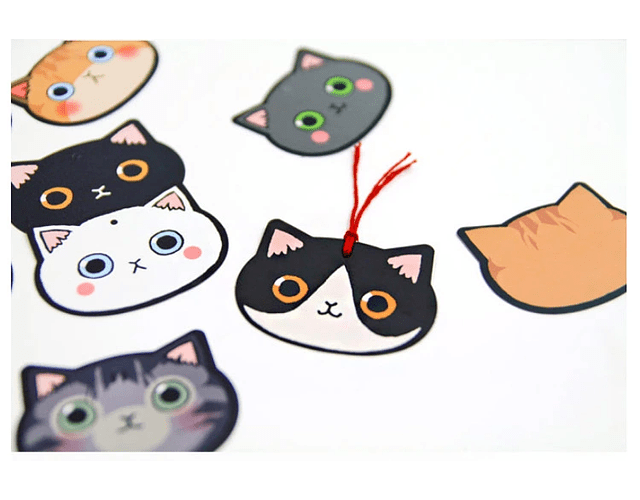 Pack 10 Marcapáginas cara Gatitos