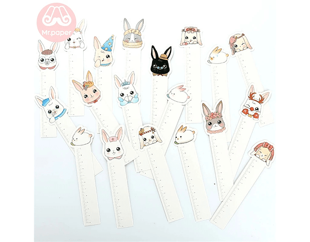 Pack 10 marcapáginas Conejitos 🐰🐇