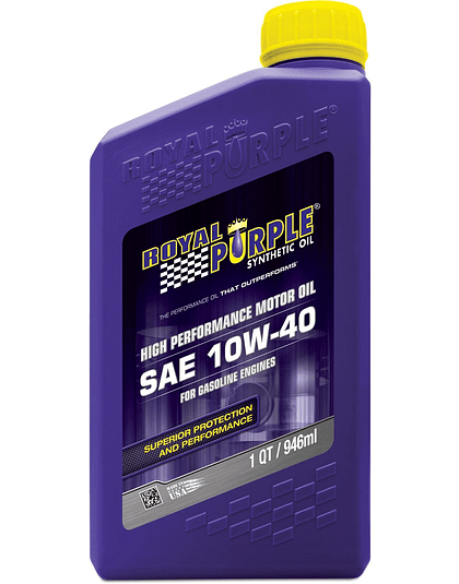 Aceite de motor SAE 10W40 API SN ROYAL PURPLE