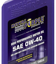 SAE 0W40 ACEA ROYAL PURPLE