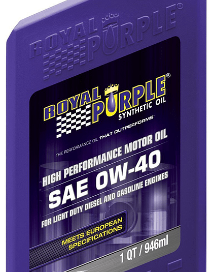 Aceite de motor SAE 0W40 ACEA ROYAL PURPLE
