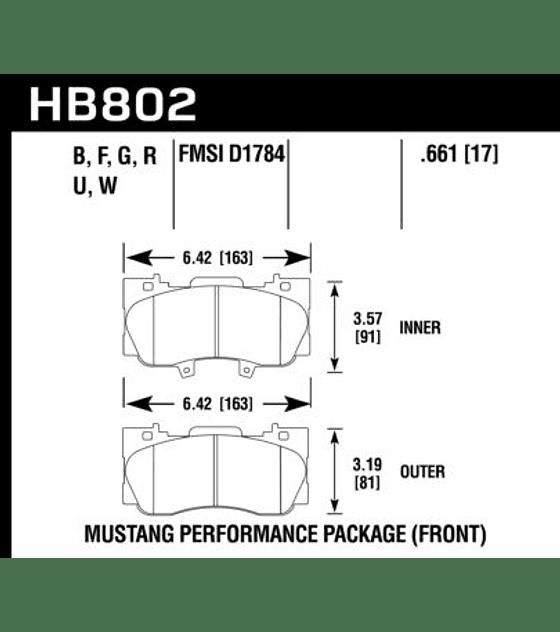 Hawk Performance HP Plus Mustang 2018