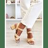 Rafia Cross Sandal