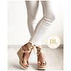 Sandálias de Cunha Rosa Gold