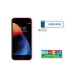 Iphone 8 de 256gb OPEN BOX ROJO