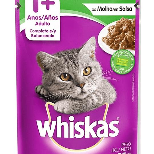 Whiskas Sobrecito Adulto Cordero en Salsa 85 g