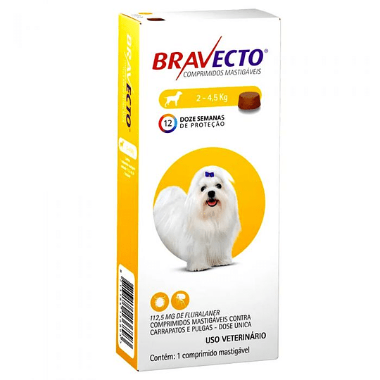 Bravecto 2 a 4.5 kg (1 comprimido)