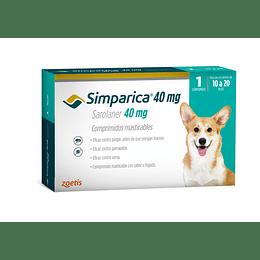 Simparica - 10 a 20 kg (1 comprimido 40 mg)