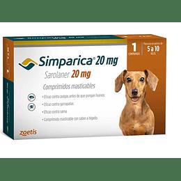 Simparica - 5 a 10 kg (1 comprimido 20 mg)