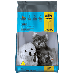 Three Dogs Original Cachorros Razas Pequeñas Carne y Arroz 10,1 kg