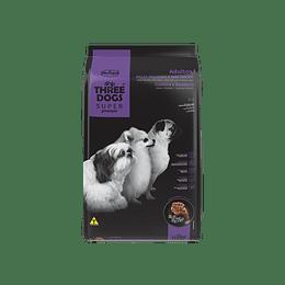 Three Dogs Súper Premium Adultos Razas Pequeñas Cordero y Arándano 10,1 kg