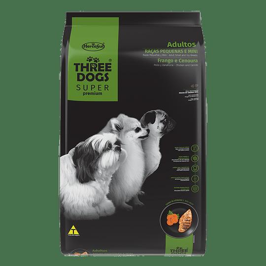 Three Dogs Súper Premium Adultos Razas Pequeñas Pollo y Zanahoria 10,1 kg