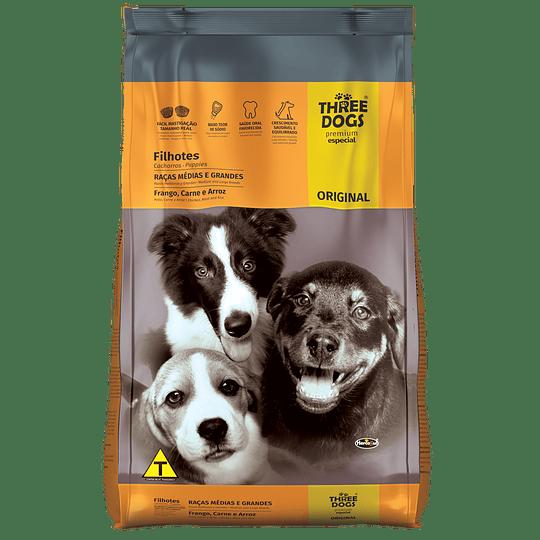 Three Dogs Original Cachorros Razas Medianas y Grandes 15 kg