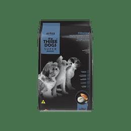 Three Dogs Súper Premium Cachorros Razas Pequeñas Pollo y Arroz 10,1 kg