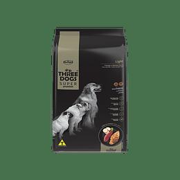 Three Dogs Súper Premium Light Pollo y Papa Dulce 10,1 kg