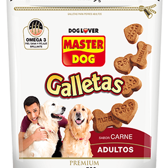 Master Dog Galletas (Adulto) Carne 500 g