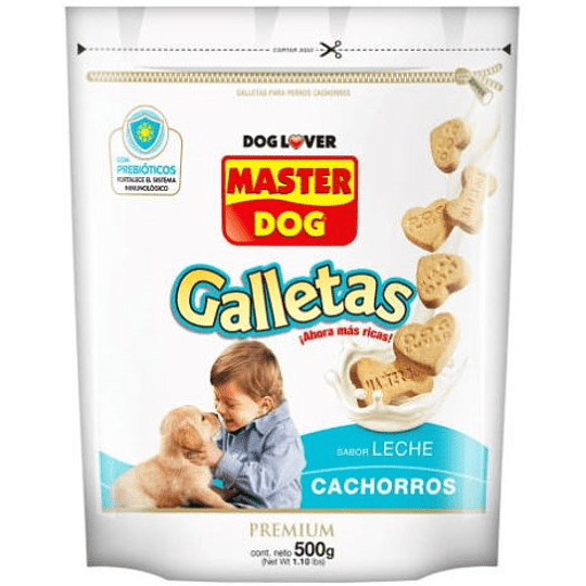 Master Dog Galletas (Cachorro) Leche 500 g
