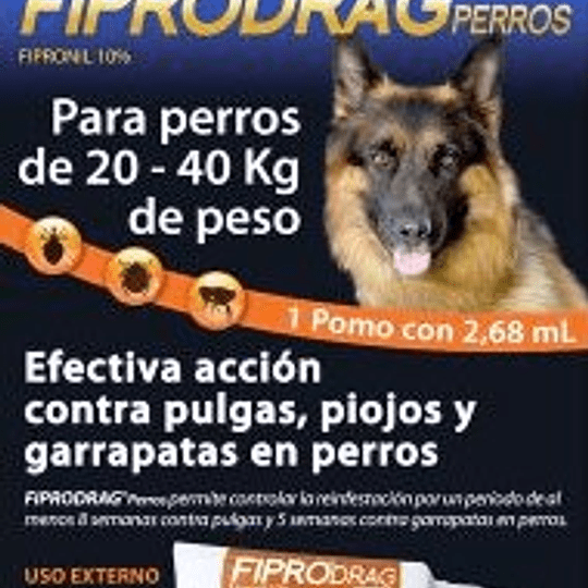 Fiprodrag (perros entre 20 a 40 Kg)