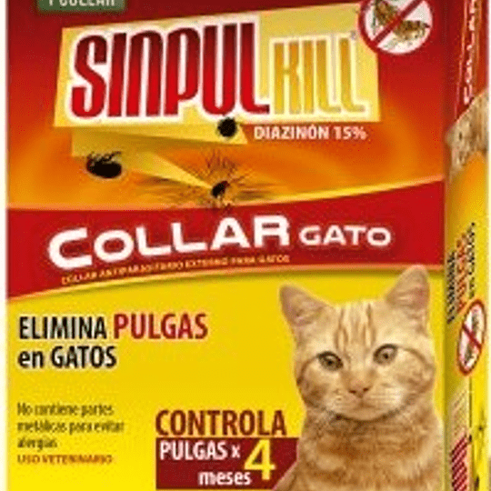 Collar Antipulgas Sinpul Kill Gato