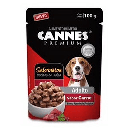 Cannes Sobrecito Adulto (carne) 100 g