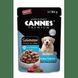 Cannes Sobrecito Cachorro (carne) 85 g