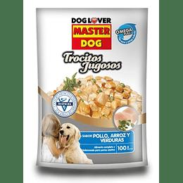 Master Dog Sobrecito Trocitos Jugosos Pollo 100 g