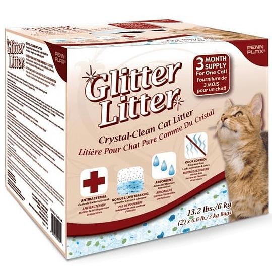 Arena Sanitaria Glitter Litter (cristales) 6 Kg