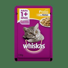 Whiskas Sobrecito Adulto Pollo en Salsa 85 g
