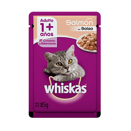 Whiskas Sobrecito Adulto Salmón en Salsa 85 g