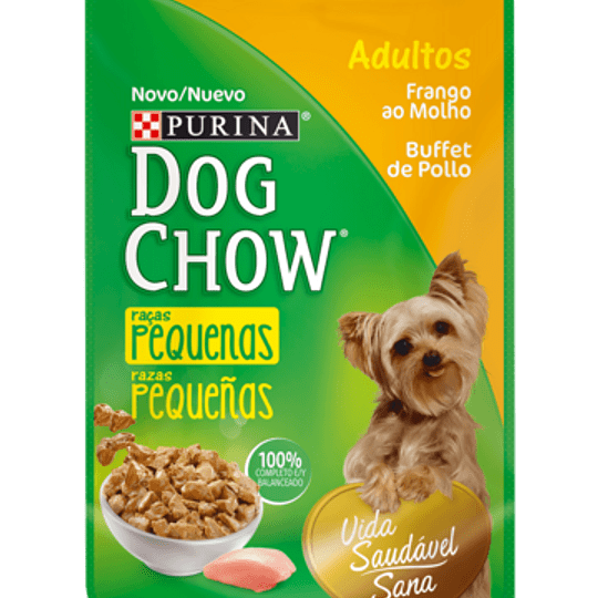 Dog Chow Sobrecito Adulto Razas Pequeñas Buffet de Pollo 100 g