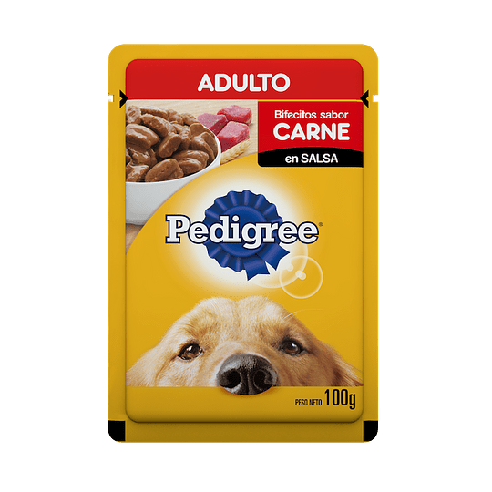 Pedigree Sobrecito Adulto Carne 100 g