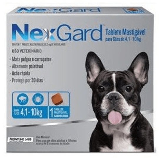Nexgard 4 - 10 kg (1 comprimido)
