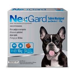 Nexgard 4 - 10 kg (3 comprimidos)