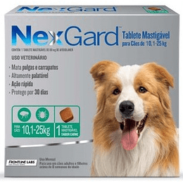 Nexgard 10 - 25 kg (1 comprimido)