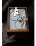 Aros Flor Azulillo con argolla