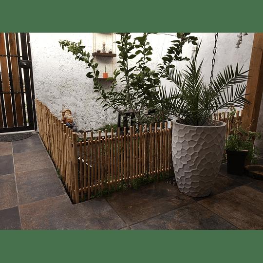 Reja Simple de Jardín con Bambú Colihue - Image 2