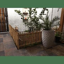 Reja Simple de Jardín con Bambú Colihue