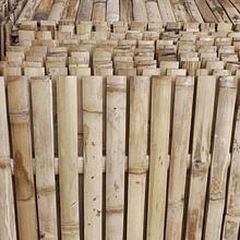 Panel con tablillas de bambú guadua
