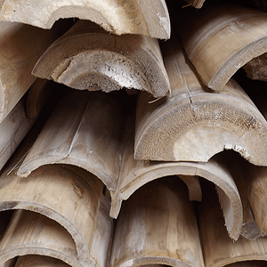 Bambú Guadua Natural - Media Caña