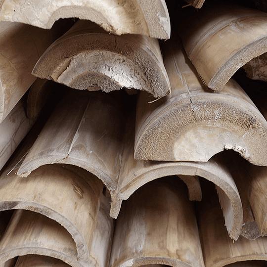 Bambú Guadua Natural - Media Caña - Image 1