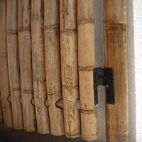 Panel con vara enteras de guadua