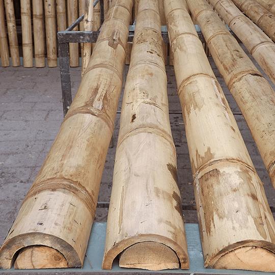 Panel Rígido con Medias Cañas de Bambú Guadua - Image 3