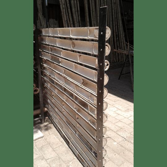 Panel Rígido con Medias Cañas de Bambú Guadua - Image 4