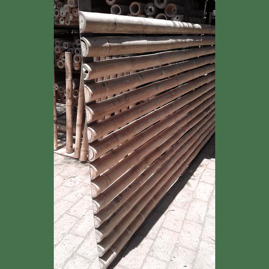 Panel Rígido con Medias Cañas de Bambú Guadua - Image 2