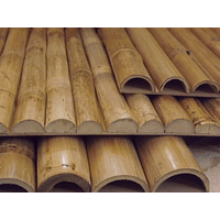Tablero con media caña bambú colihue