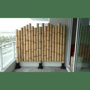 Panel con Varas enteras de Bambú Guadua