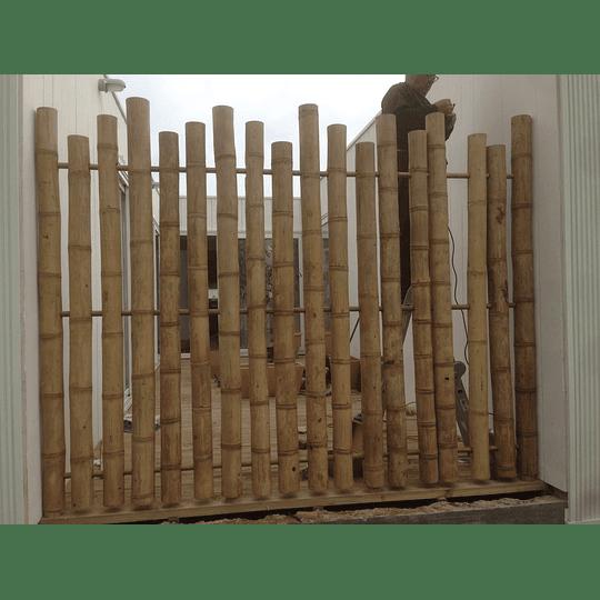 Panel con Varas enteras de Bambú Guadua - Image 3