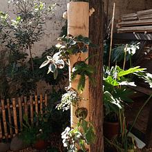 Jardinera Vertical Bambú