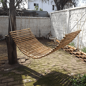 Hamaca con bambú colihue 80x200 cm
